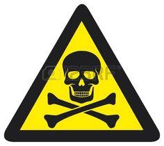 signe de danger avec le symbole du cr ne Banque d'images