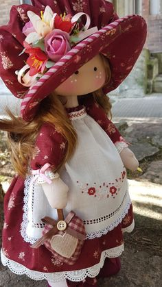 Rag dolls Handmade doll Fabric doll Tilda doll Rag doll Cloth Doll Red hair Made in the UK Ooak doll GRACE inches tall Pretty Dolls, Beautiful Dolls, Doll Patterns, Doll Clothes Patterns, Fabric Toys, Polymer Clay Dolls, Sewing Dolls, Waldorf Dolls, Soft Dolls