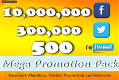 reitservice: tweet your link to 10 000 000 Facebook fans, 300 000 twitter followers in 24 hrs for $5, on fiverr.com