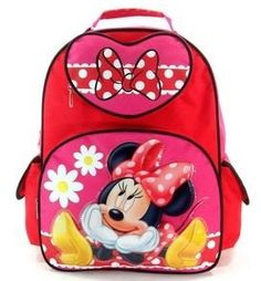 """Disney Minnie Mouse Large 16"""" School Backpack- Bow Fever Disney. $24.80"""