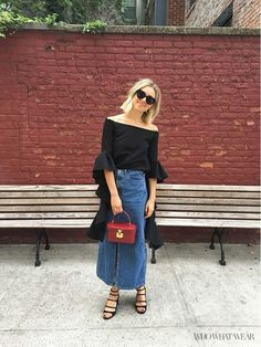 What Who What Wear editor Aemilia Madden wears to NYFW
