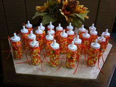 Made these for my cousin's fall baby shower.