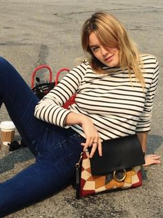 Camille Rowe, who you should follow for a hybrid of French and American cool-girl style.