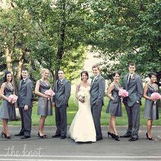 Gray Wedding Party Attire