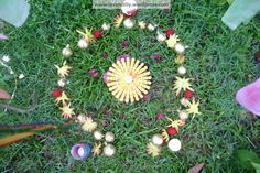 make a faerie ring: Summer Solstice celebrations for children