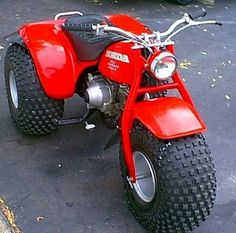 Trike!! My childhood :) sooo many pinched chins getting my helmet clicked up and burned gumboots from the exhaust pipe thingy. Thanks Daddyo <3