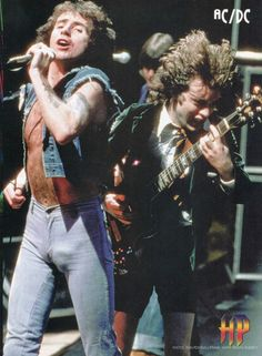 Bon Scott,and Angus young acdc