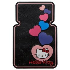 Perfect For Valentine's Day Hello Kitty Hearts Floor Mats from MyCoolCarStuff.com