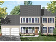 ePlans Colonial House Plan – Colonial Tradition – 1964 Square Feet and 3 Bedrooms from ePlans – House Plan Code HWEPL77470
