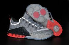 Online Cheap Nike Lebron 12 Hyper Crimson Metallic Cool Grey Hyp ... 84c8f5620
