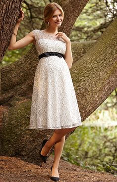 Daisy Maternity Dress Mono Lace - Maternity Wedding Dresses, Evening Wear and Party Clothes by Tiffany Rose.