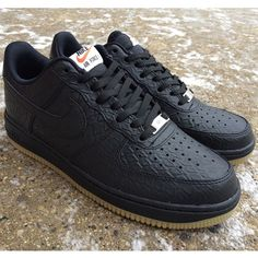 Now available | Nike Air Force 1 '07 LV8 | Python | Black/Gum Sole | $100 | In-store or by phone | 414-273-3333. #nike #airforce1 #MODA3