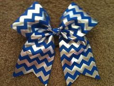 Hey, I found this really awesome Etsy listing at https://www.etsy.com/listing/197508817/big-3-cheer-bow-royal-blue-silver