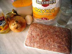 Ингредиенты для приготовления чебуреков на заварном тесте