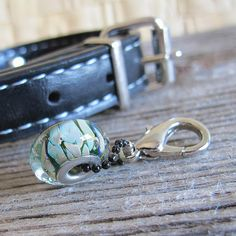Pet Collar Charm Glass Bead Charm Pendant for by ArtisanPetTags, $15.20