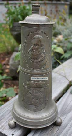 Antique Pewter Tankard Stein Prince Hartmann V Liechtenstein ...
