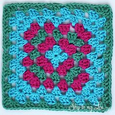 If you want to learn how to crochet, a crochet dishcloth is a great project. This crochet granny square dishcloth can make a really useful handmade gift!  MichaelsMakers Skip To My Lou