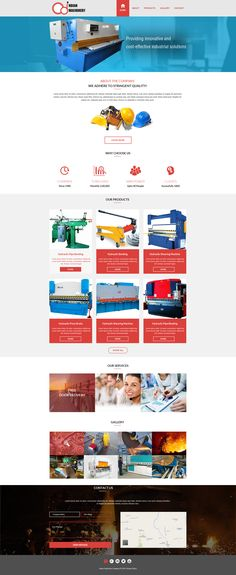 Sell365's Machinery Industry Template. One of the best Website Builder in India. Design and customize your own website with our free website templates.