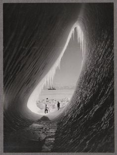 Grotto in an iceberg, photographed during the British Antarctic Expedition of 1911-1913, 5 Jan 1911
