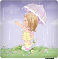 umbrellas.quenalbertini: Cute little girl under the rain