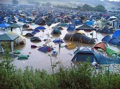 Camping Hell - Glastonbury England 2009