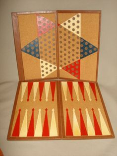 Vintage Leather Board Game Travel Set  by PastPossessionsOnly, $39.95