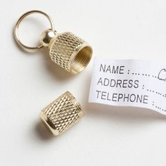 dog id tube...just write all your info & hang from their collar! $6