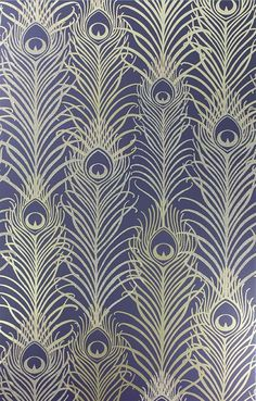 Pippy's Peacock Wallpaper - Dark Blue [PEA-53621] Mansion Living | DesignerWallcoverings.com | Luxury Wallpaper | @DW_LosAngeles | #Custom #Wallpaper #Wallcovering #Interiors