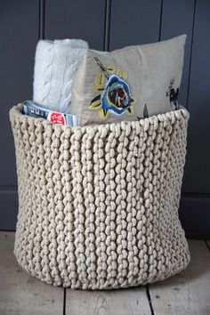 Knitted Baskets