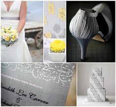 Grey with yellow wedding colors..I like soft colors like this :)
