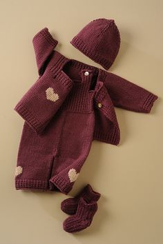 Ravelry: SUSIE – baby ensemble Cardigan, overalls, hat and booties