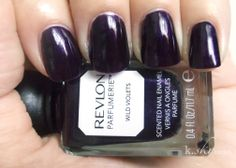 Revlon Parfumerie Wild Violets: I'd have thought this would stink too much to really enjoy, but actually the scent is really subtle and kind of cute. It's strongest the first day, then wears off by around the third day of wear. Plus, the color on this is AMAZING.