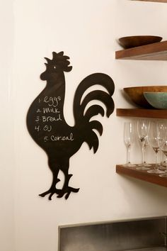 How great is this chalkboard?  $42 from HomeandGardenArt.com