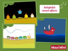 Maui Mini App Educational Games - These games help babies and toddlers discover the concept of cause and effect.