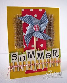 Summer Card, could be used as a party invitation