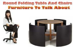 This can be a wonderful deal for you if availed through this site. Here with Round Folding Table And Chairs you can use this set either for office or for your drawing room. It will suit both places very much with the best look and comfort you get. Round Folding Table, Table And Chair Sets, Drawing Room, Suit, Places, Furniture, Home Decor, Drawing Rooms, Decoration Home