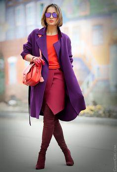 purple max mara coat Galant Girl blog