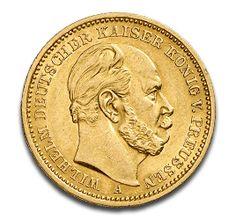 Kaiser Wilhelm I., Preußen, 20 Mark, 7.16g Gold, 1871-1888, Gold, Deutschland, 7.16g | CoinInvest