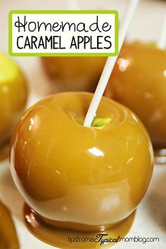 Homemade Caramel Apples More