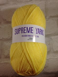 Supreme Yarns yellow 100 gram ball of mixed by Bitsandbobstopia Cheap Yarn, Yarns, Supreme, Knitted Hats, Knitting, Yellow, Trending Outfits, Unique Jewelry, Handmade Gifts