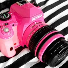 Pink Pentax camera - love this! Waaay better than the lomography one. Would love it in purple but would people take me seriously????Who cares
