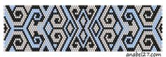 схема орнамент мозаичное плетение браслет free bead peyote pattern