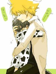 Tsuna and Lambo? Or Hibari in cow jumpsuit??