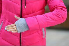 Winter coat women down new 2015 winter parka women short slim thickening warm double layer collar cotton-padded jacket red