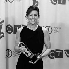 Sarah McLachlan backstage accepting her Adult Contemporary Album of the Year award – JUNO Awards 2017