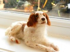 Brittany Spaniel -needle felted | … | Flickr - Photo Sharing!