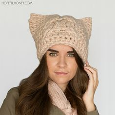 Ravelry: Chunky Cabled Cat Hat pattern by Olivia Kent