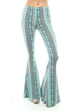 Bohemian print bell bottoms, super soft and comfy, very boho chic