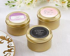 Wedding Designs Personalized Round Gold Candy Tins (Set of By Kate Aspen - Give your party guests a sweet treat! When filled with handmade goodies or trinkets, Kate Aspen's personalized round gold candy tins are a charming party favor. Inexpensive Party Favors, Affordable Wedding Favours, Gold Wedding Favors, Creative Wedding Favors, Gold Wedding Theme, Wedding Favor Tags, Wedding Sets, Wedding Dreams, Personalized Candy