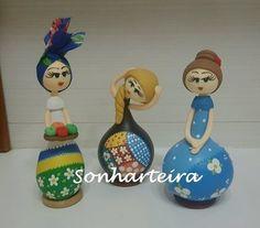 Cabaça - Trio de bonecas - CAB 421